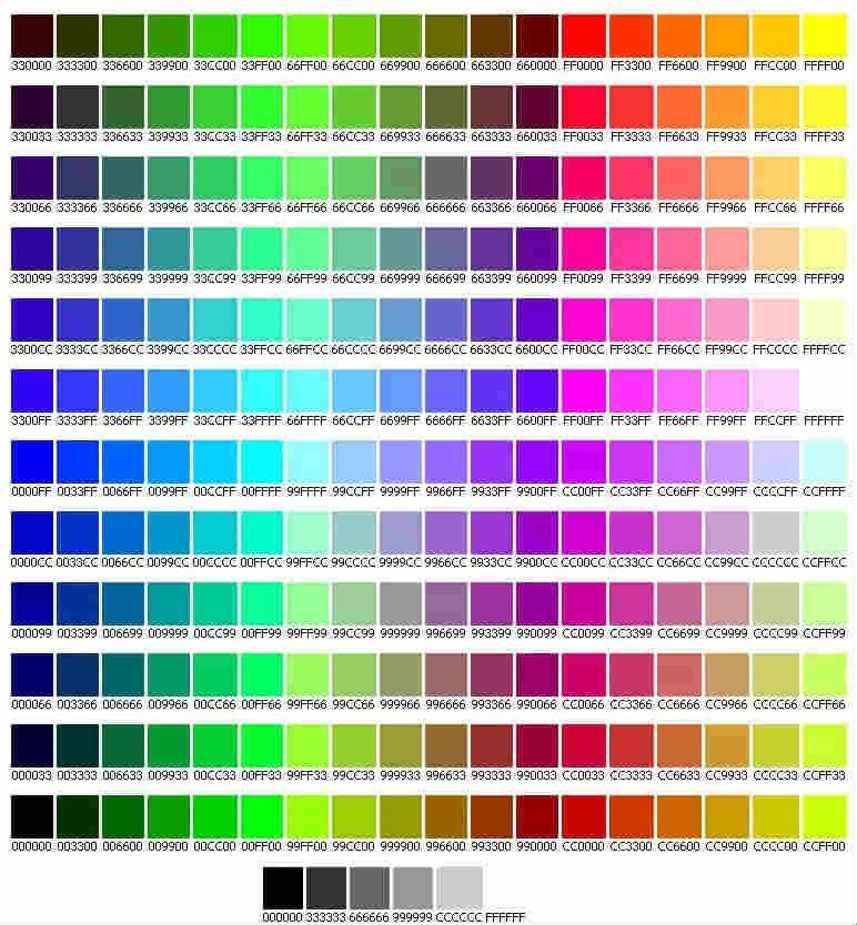 colore html in esadecimale per i CSS