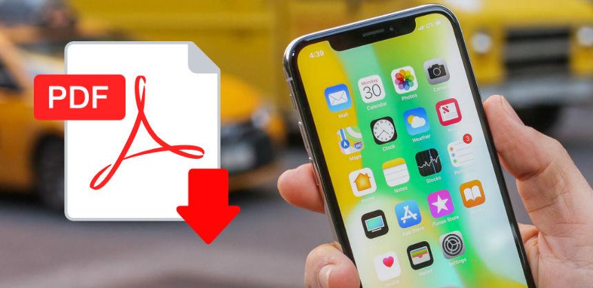 Aprire file pdf iPhone con iTunes e applicazioni