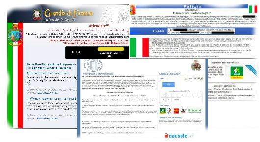 Rimuovere virus Guardia di Finanza
