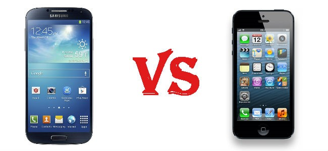 Galaxy S4 Vs iPhone 5 a confronto