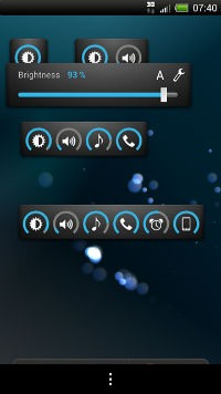 Android slider widget