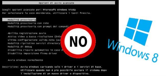 Modalità provvisoria in Windows 8