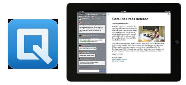 Quip app ipad per scrittura