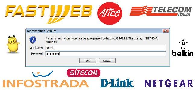 Trovare le password modem Alice Telecom Fastweb e molti altri