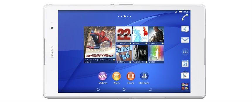 tablet sony xperia z3 da 8 pollici.