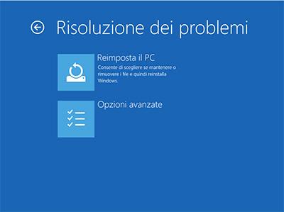 risoluzione-problemi-avanzate-windows-10